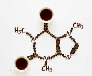 molecola di caffeina